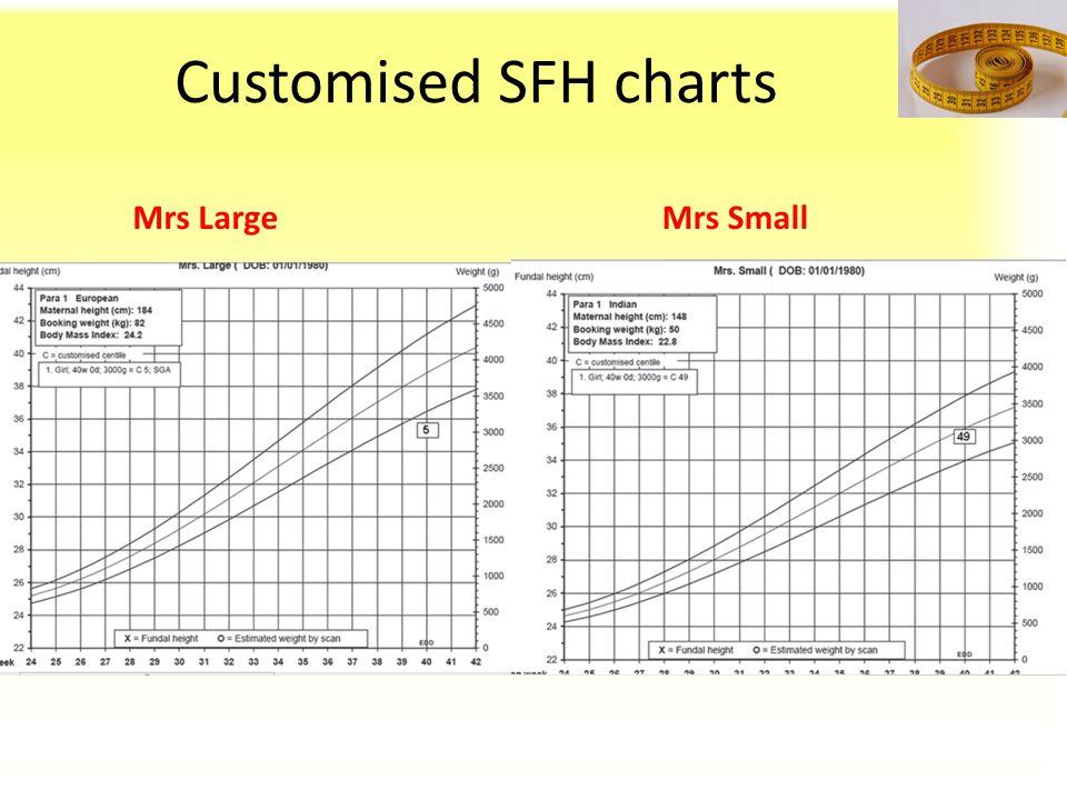 Customised SFH charts Mrs LargeMrs Small