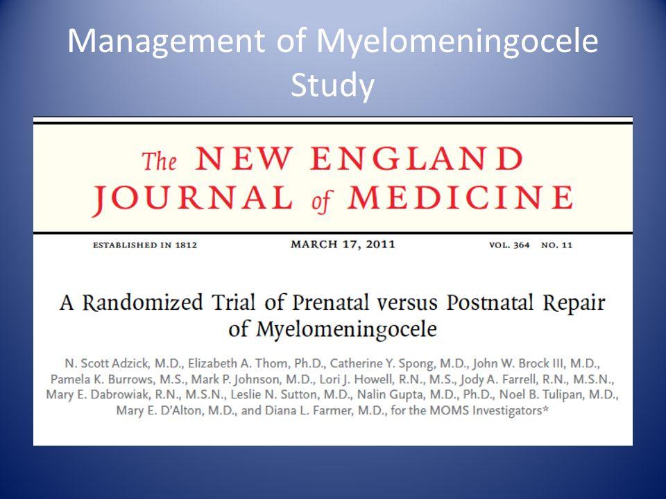 Management of Myelomeningocele Study