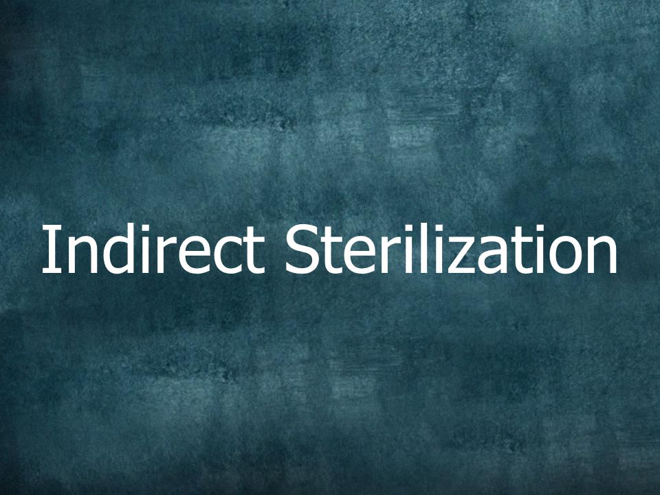 Indirect Sterilization