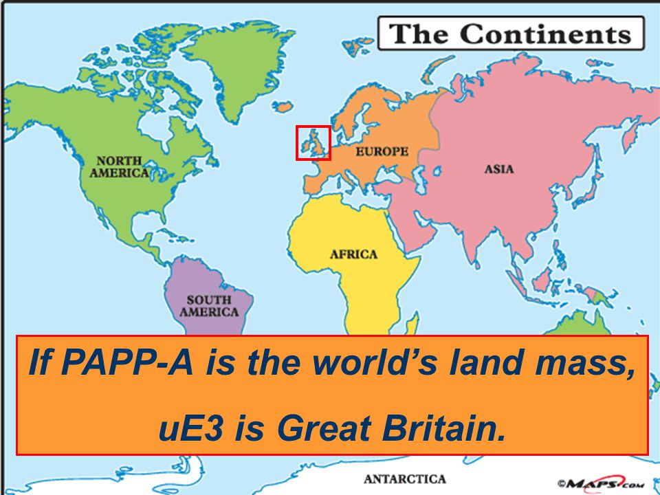 If PAPP-A is the world's land mass, uE3 is Great Britain.
