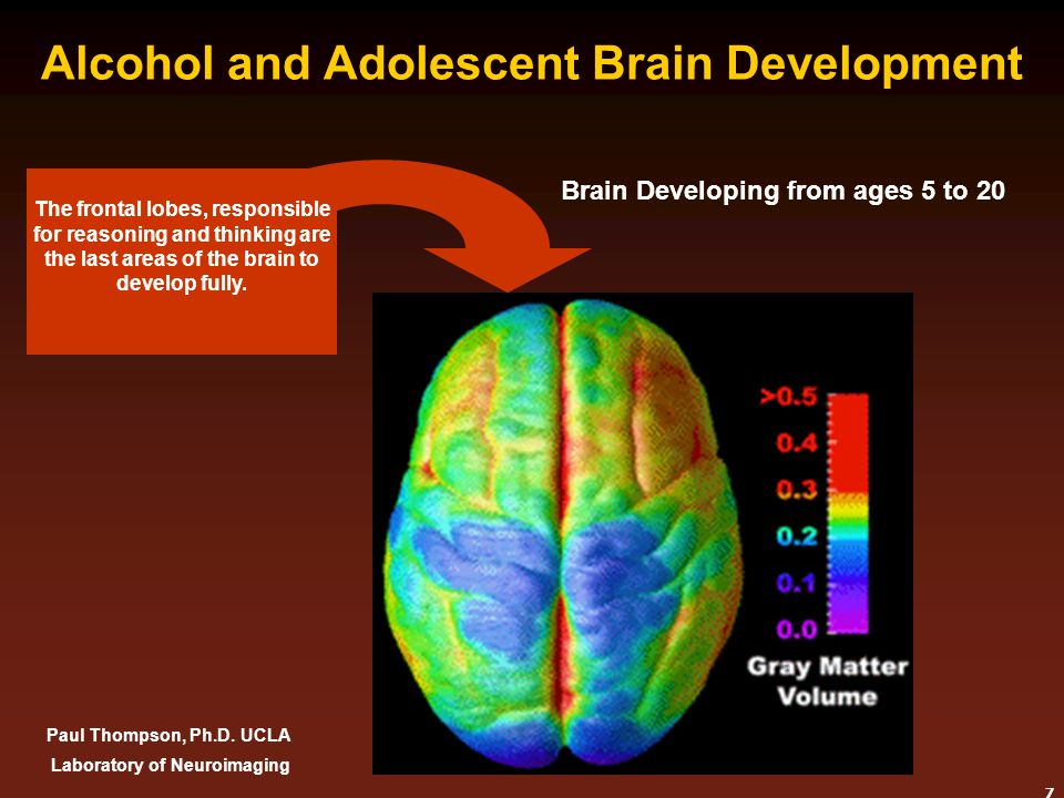 8 Brain affected by Alcohol Drinkers have less Active Brains Note Differences In back of the Brain Healthy Control Alcohol Dependent Brain scans of two females.