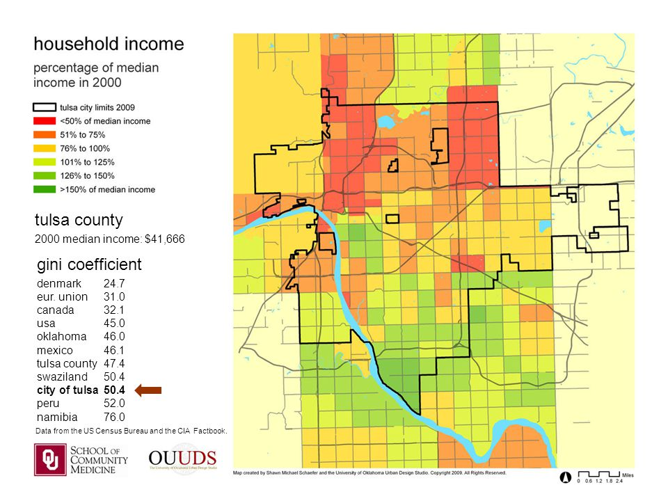 tulsa county 2000 median income: $41,666 gini coefficient denmark24.7 eur.