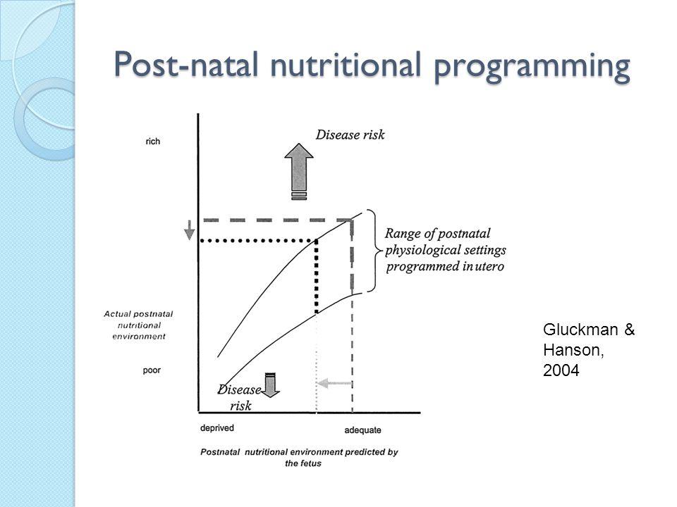 Post-natal nutritional programming Gluckman & Hanson, 2004