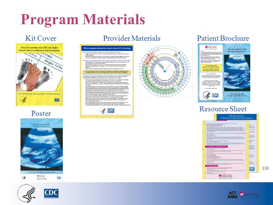 Program Materials Kit Cover Poster Provider MaterialsPatient Brochure Resource Sheet 110
