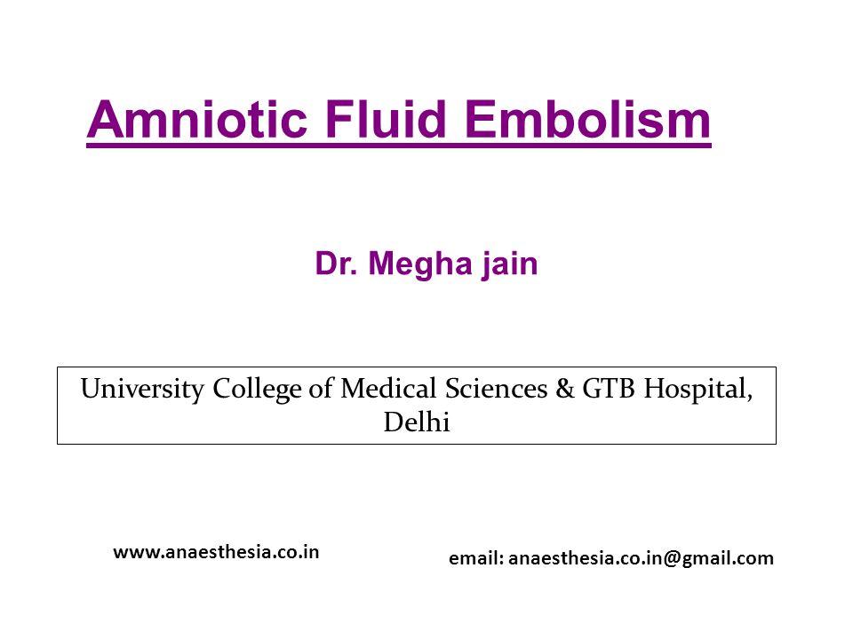 Amniotic Fluid Embolism Dr.