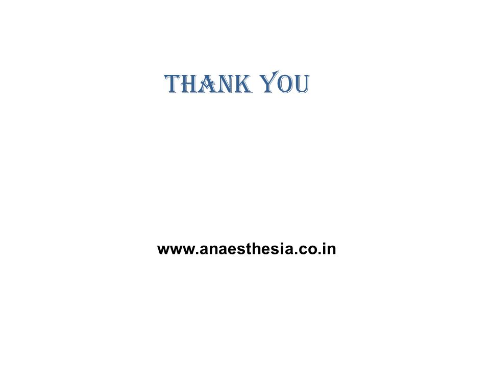 Thank You www.anaesthesia.co.in