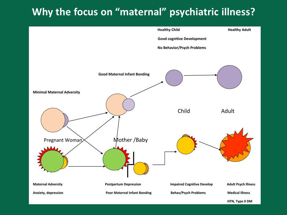 Why the focus on maternal psychiatric illness