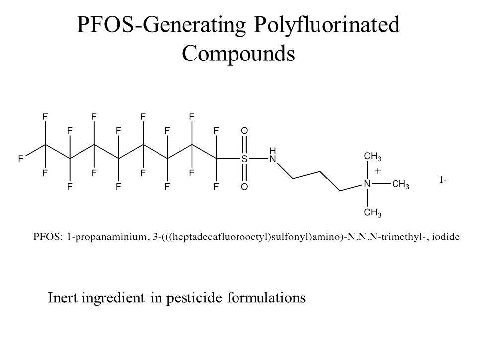 PFOS-Generating Polyfluorinated Compounds Inert ingredient in pesticide formulations