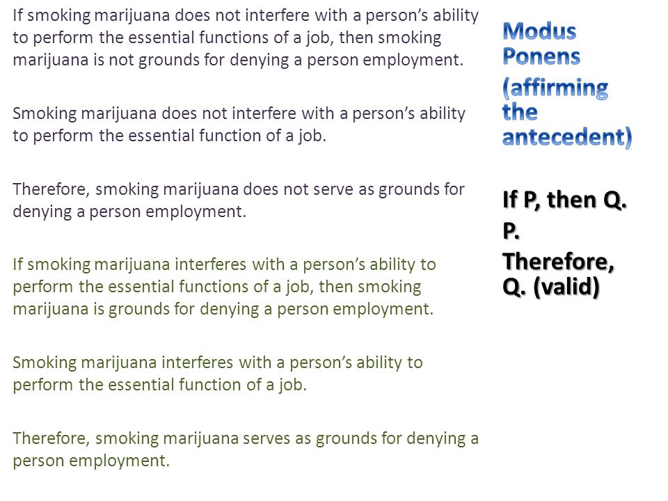 If smoking marijuana does not interfere with a person's ability to perform the essential functions of a job, then smoking marijuana is not grounds for
