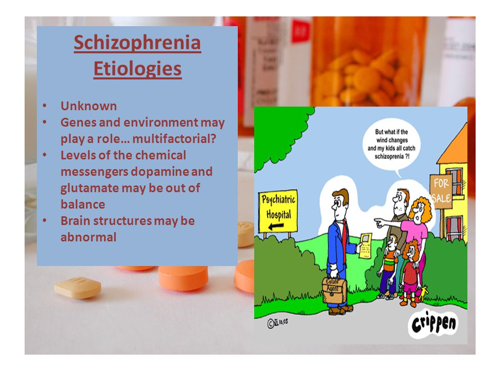 Schizophrenia Etiologies Unknown Genes and environment may play a role… multifactorial.