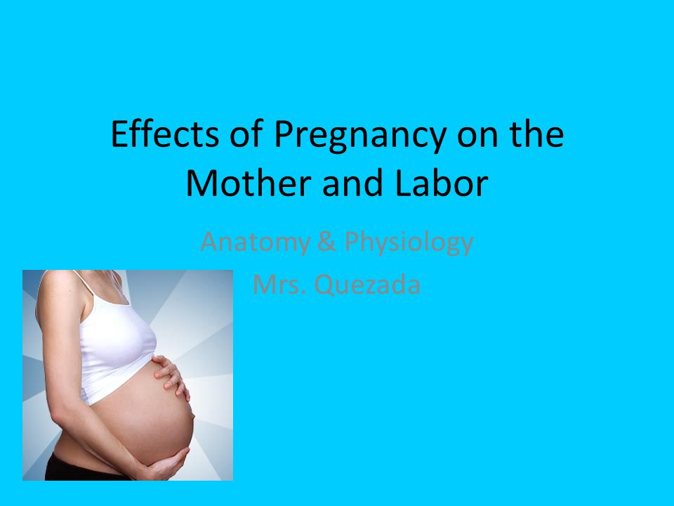 Effects of Pregnancy on the Mother and Labor Anatomy & Physiology Mrs. Quezada