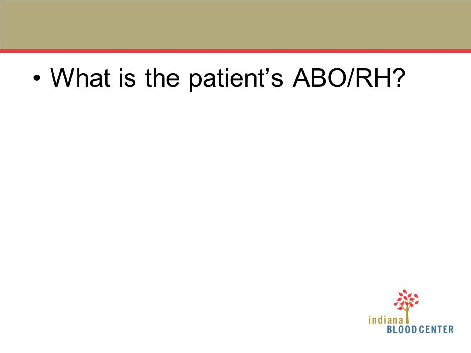 What is the patient's ABO/RH?