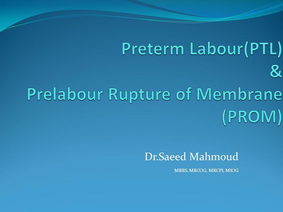 Dr.Saeed Mahmoud MBBS, MRCOG, MRCPI, MIOG
