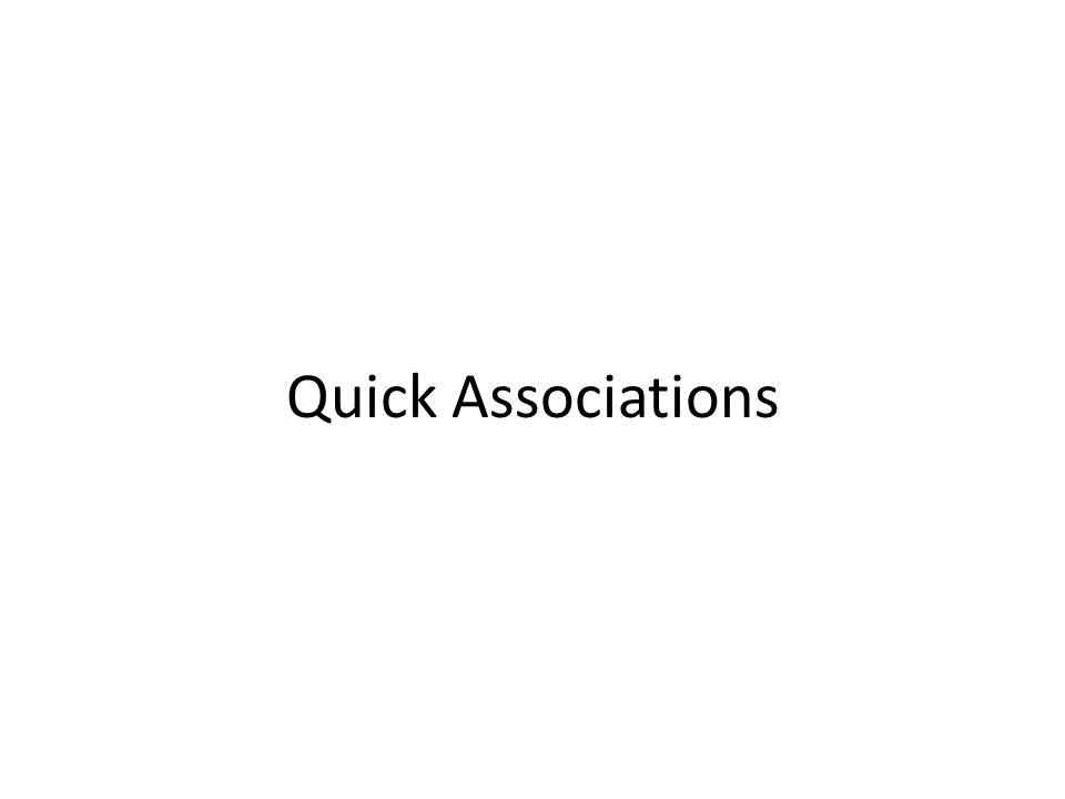 Quick Associations