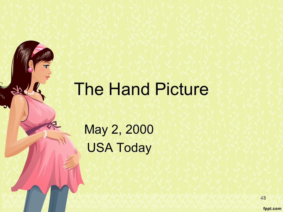48 The Hand Picture May 2, 2000 USA Today