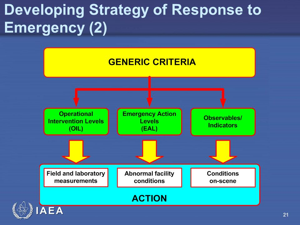 Developing Strategy of Response to Emergency (2) 21