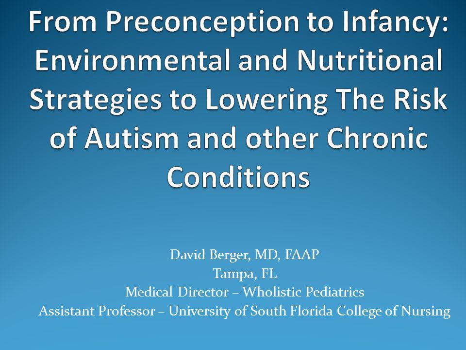 David Berger, MD, FAAP Tampa, FL Medical Director – Wholistic Pediatrics Assistant Professor – University of South Florida College of Nursing