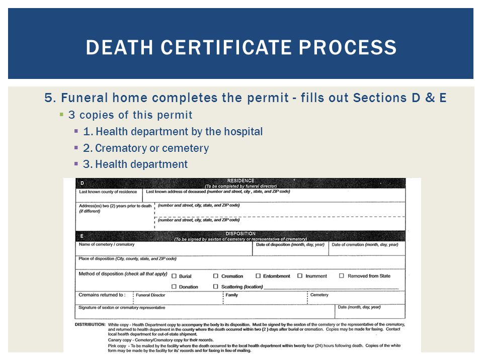 DEATH CERTIFICATE PROCESS 5.