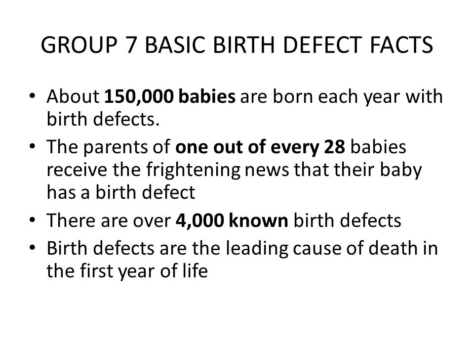 What is a Birth Defect.