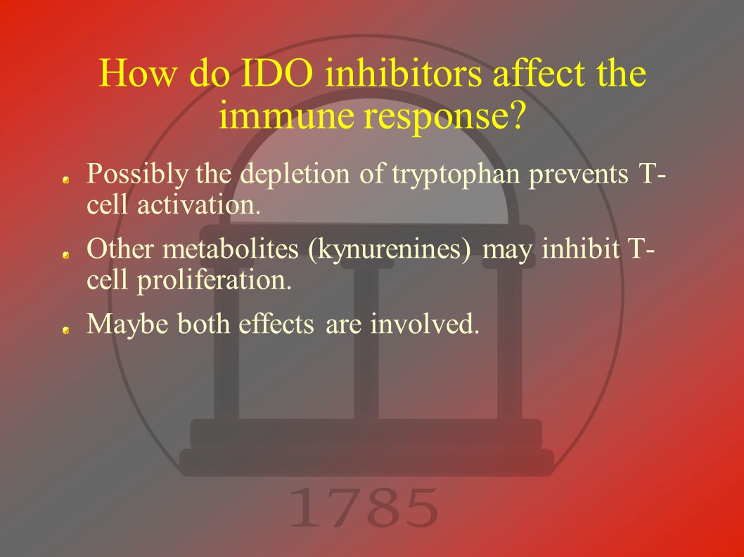 How do IDO inhibitors affect the immune response.