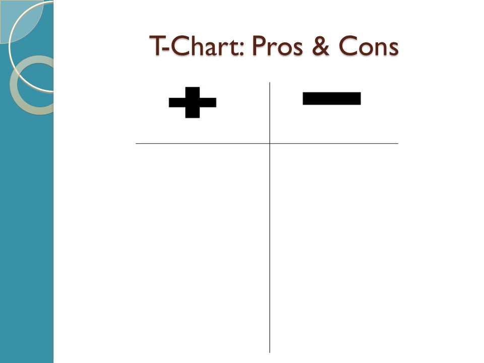 T-Chart: Pros & Cons
