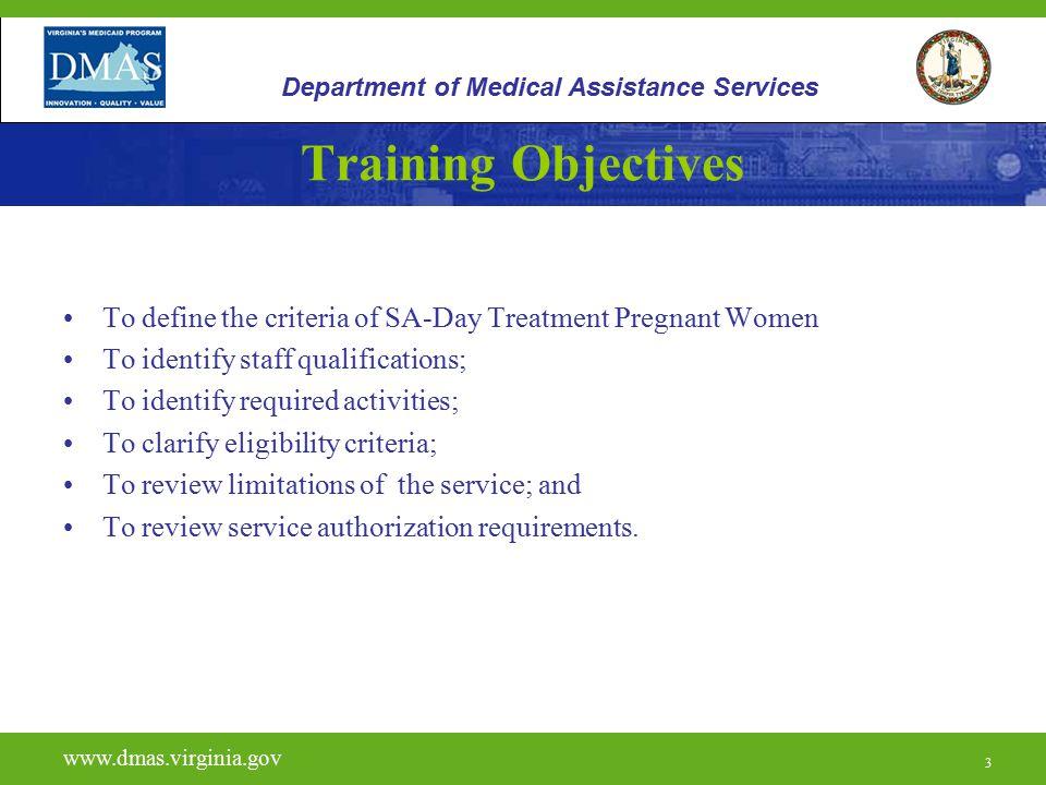 24 H0015 www.dmas.virginia.gov 24 Department of Medical Assistance Services Units and Reimbursement