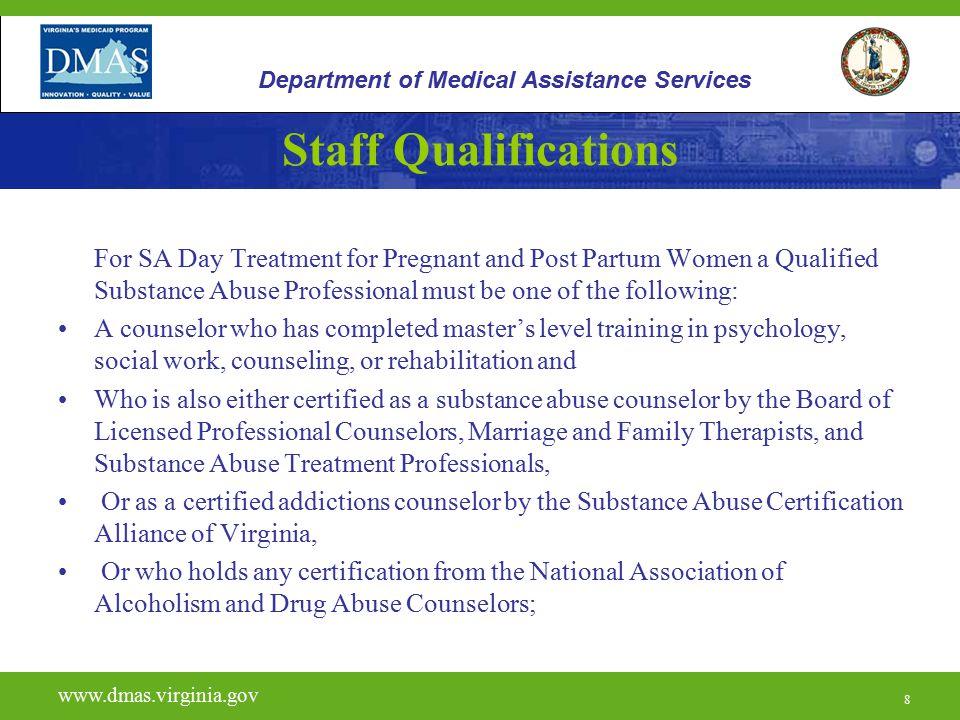 19 H0015 www.dmas.virginia.gov 19 Department of Medical Assistance Services Eligibility Criteria