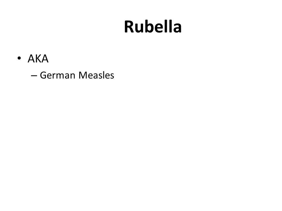 Rubella AKA – German Measles