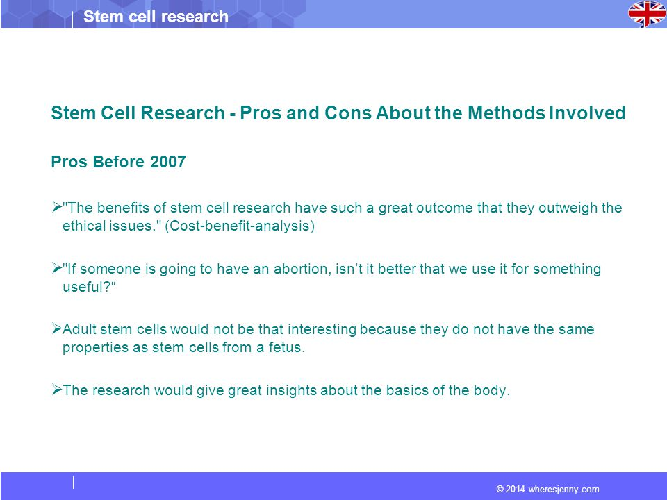 stem cell research cons Pros and cons of stem cell research - understand the positive and negative effects of this research learn about adult cells, cord cells, and embryonic cells.