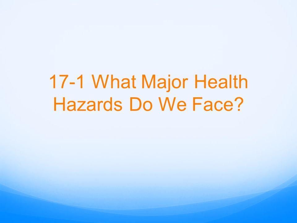 17-1 What Major Health Hazards Do We Face?