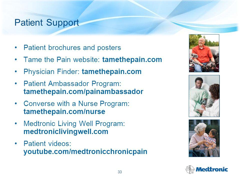 Patient Support tamethepain.com 34