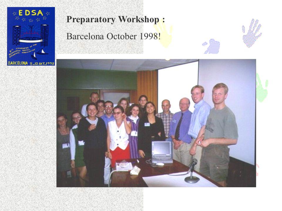 The Virtual Classroom in Periodontology EDSA, 1998 - 1999