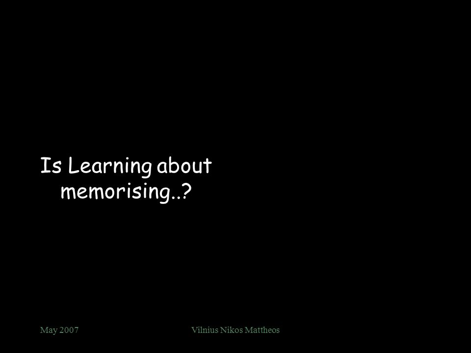 Is Learning about mimicking..