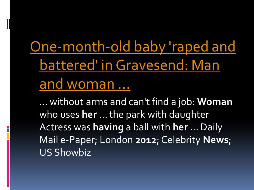 One-month-old baby raped and battered in Gravesend: Man and woman......