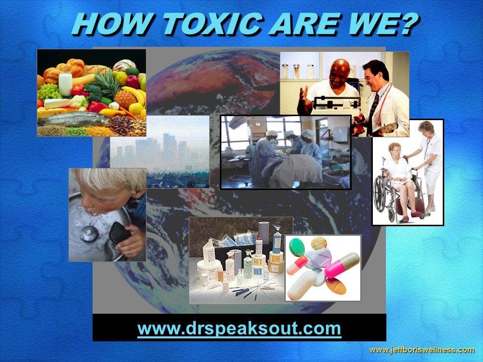 www.jeffboriswellness.com HOW TOXIC ARE WE? www.drspeaksout.com
