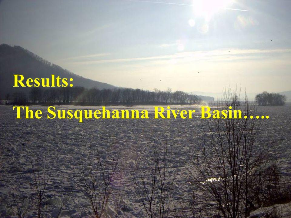 Results: The Susquehanna River Basin…..