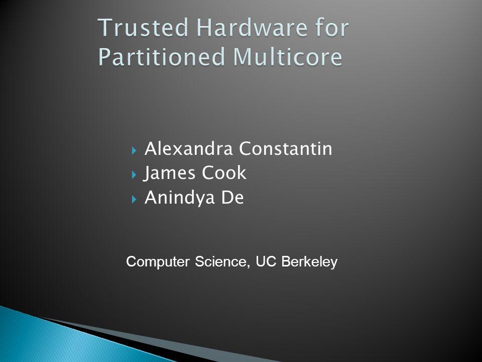  Alexandra Constantin  James Cook  Anindya De Computer Science, UC Berkeley