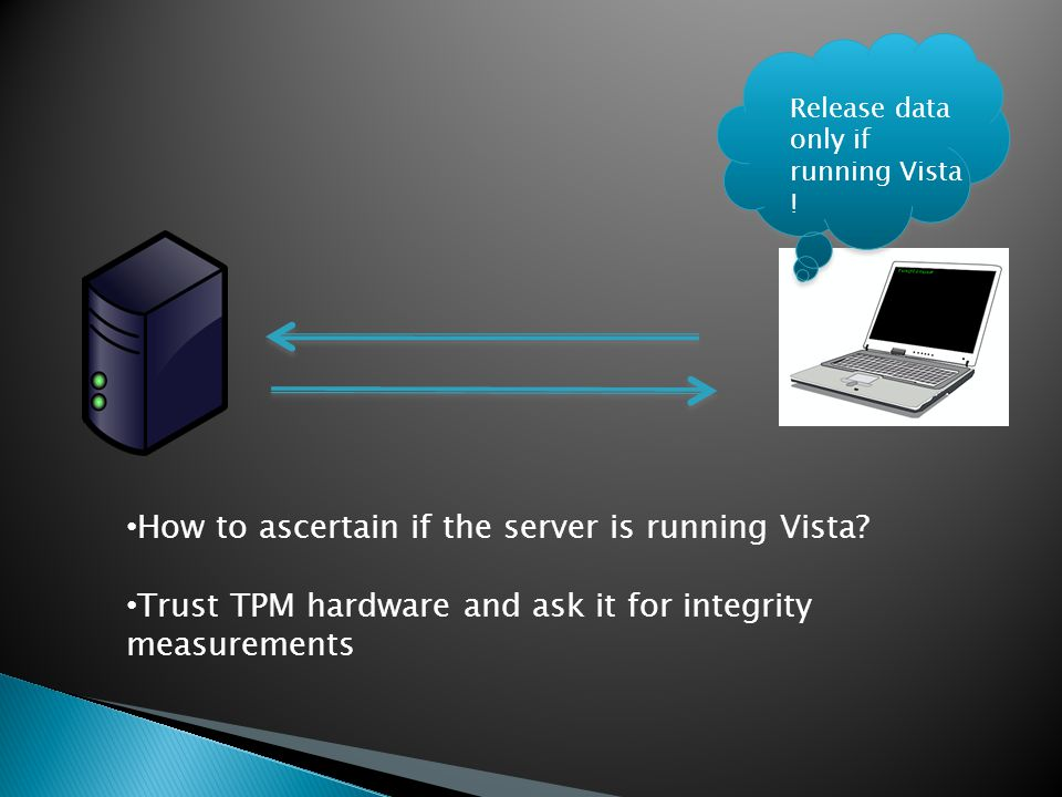 Release data only if running Vista . How to ascertain if the server is running Vista.