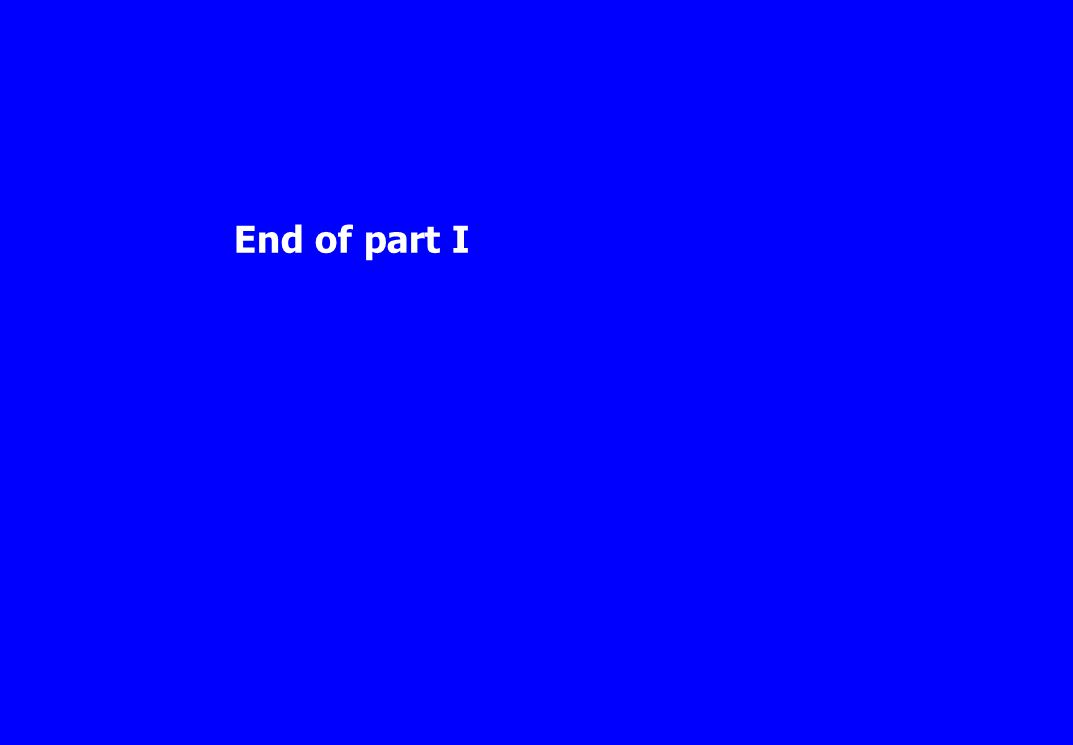 End of part I
