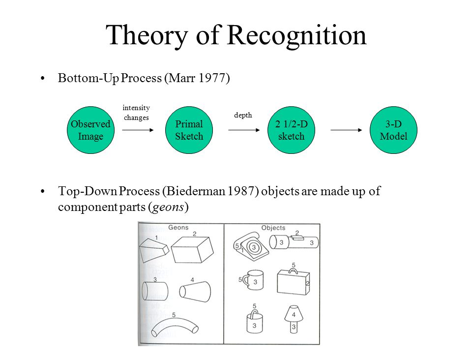 How to experimentally ascertain recognition.
