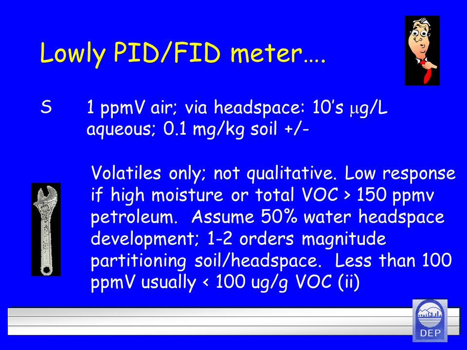Lowly PID/FID meter…. Volatiles only; not qualitative.