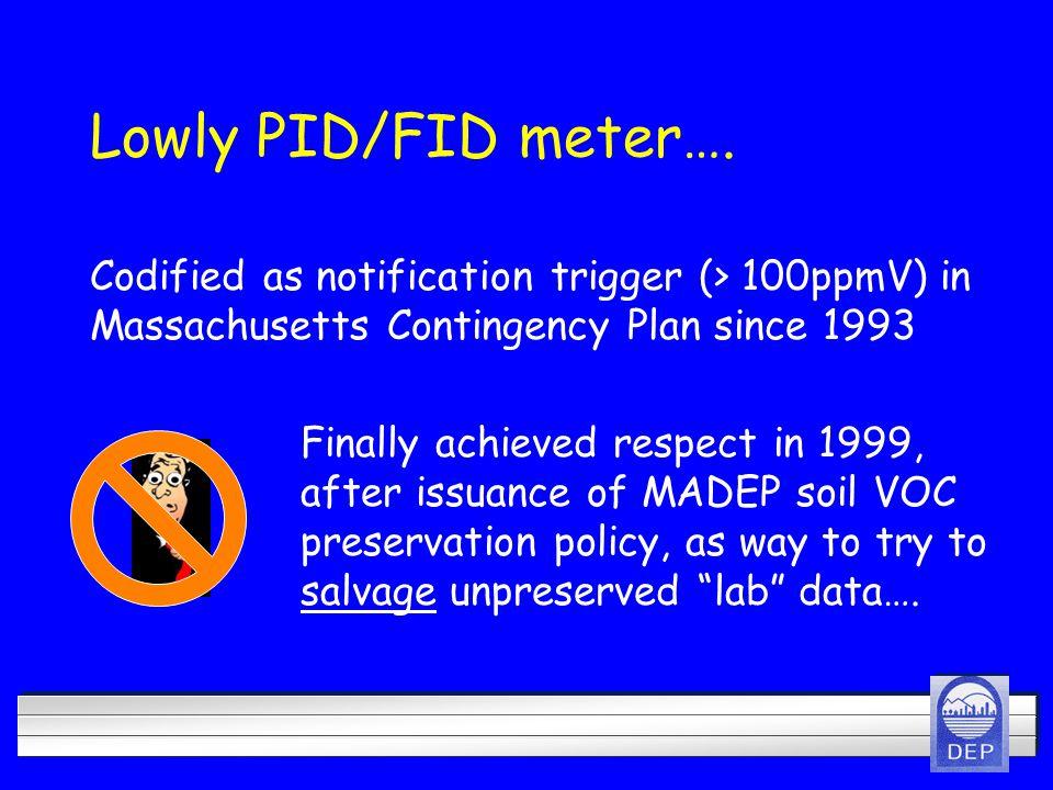 Lowly PID/FID meter….