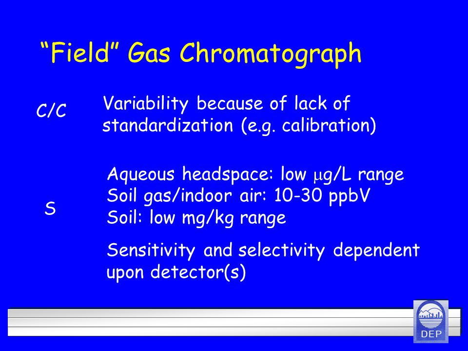 Field Gas Chromatograph Variability because of lack of standardization (e.g.