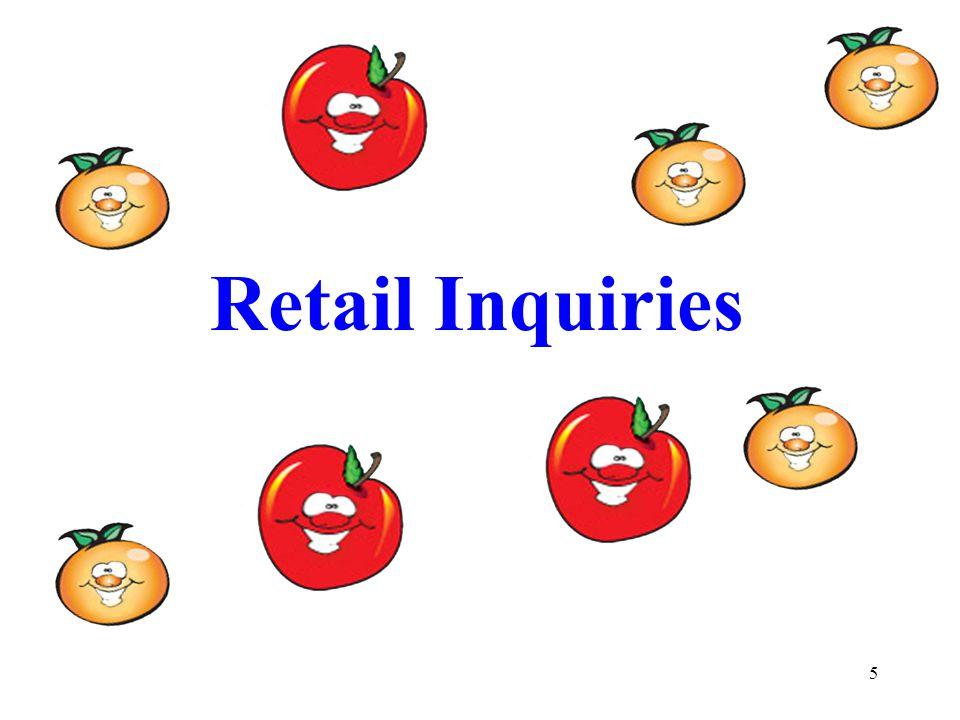 5 Retail Inquiries