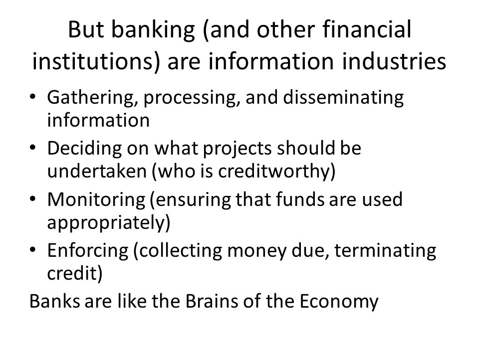 So too in finance Financial markets intermediate between savers and investors With globalization, savers and investors can be scattered all over the world But savers and investors in different parts of the world have different needs and opportunities – Which is why local information is so important