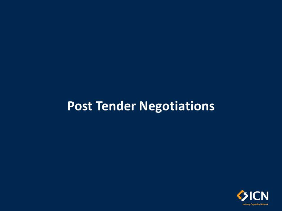 Post Tender Negotiations