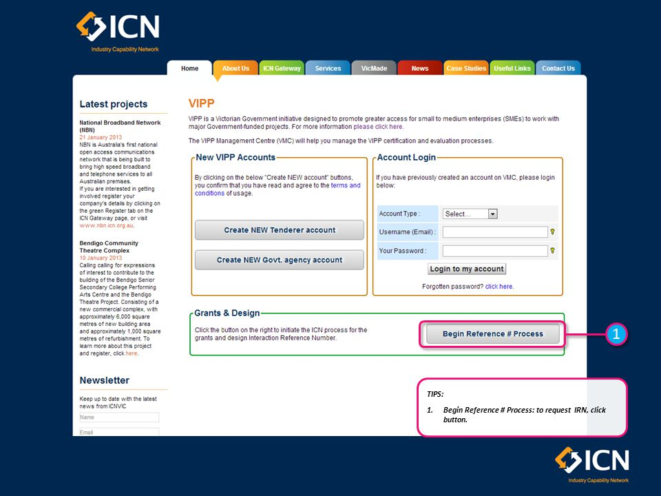 1 1 TIPS: 1.Mandatory Fields: ensure all mandatory fields (denoted by ) are completed.