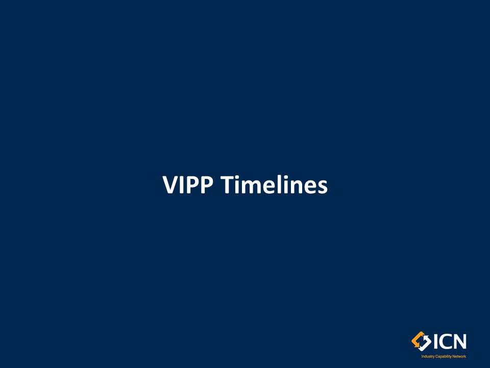 Monitoring & Post Contract Reporting Upon the completion of contracts (issued post 1 st January 2013) where the VIPP applies, the supplier/ contractor must provide the VIPP outcomes to the government agency/department when requested.