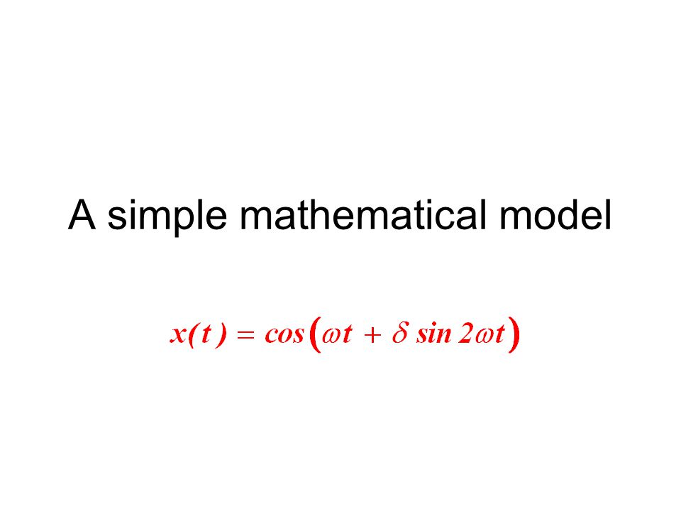 A simple mathematical model