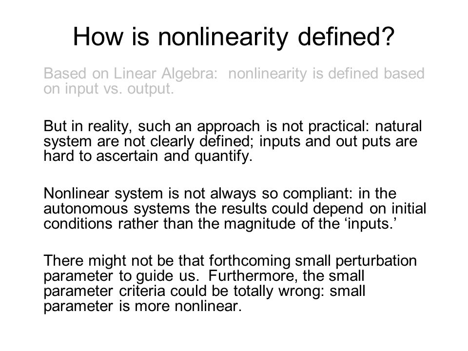 Conclusion With HHT, we can have a precisely defined instantaneous frequency; therefore, we can also define nonlinearity quantitatively.